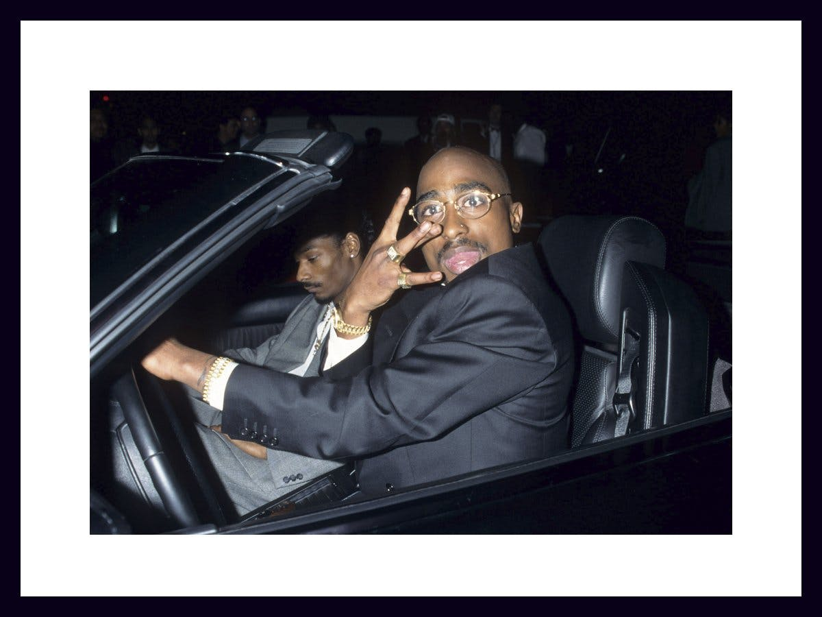 Tupac and Snoop in a car