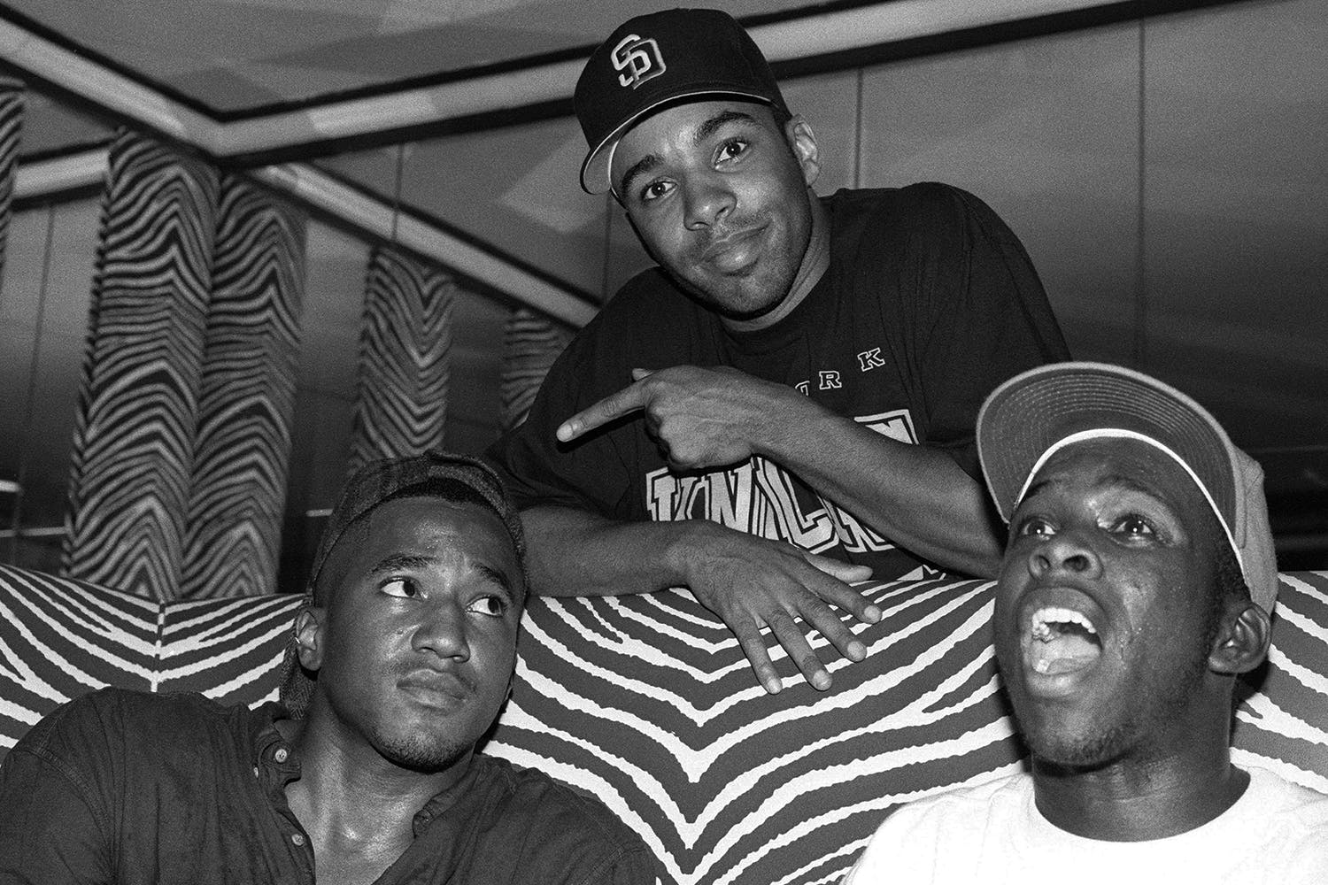 Actor Allen Payne and A Tribe Called Quest attend an album-release party for A Tribe Called Quest's