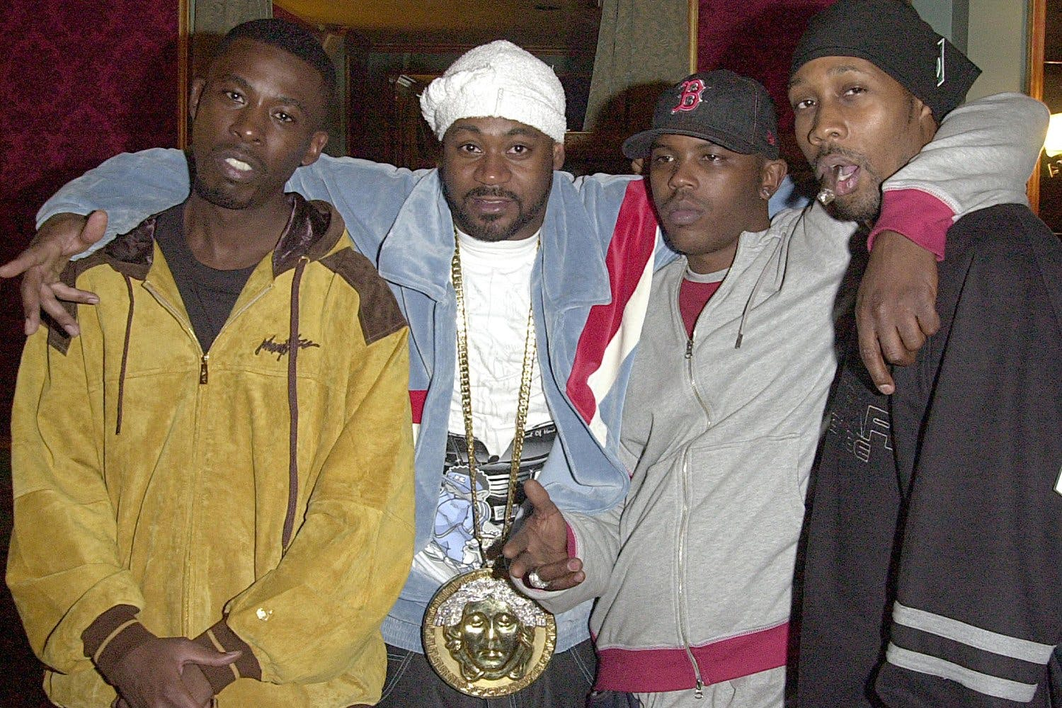 GZA, Ghostface Killah, Power and RZA during GZA and Wu-Tang Clan 2002 Video Shoot at Etoile in New York City, New York, United States. (Photo by Djamilla Rosa Cochran/WireImage)