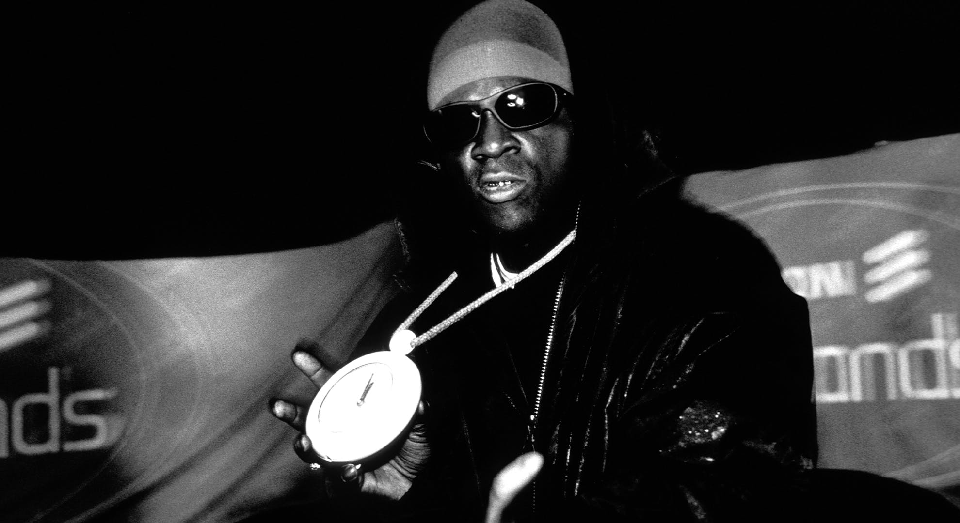 Flava Flav from Hip Hop group Public Enemy.