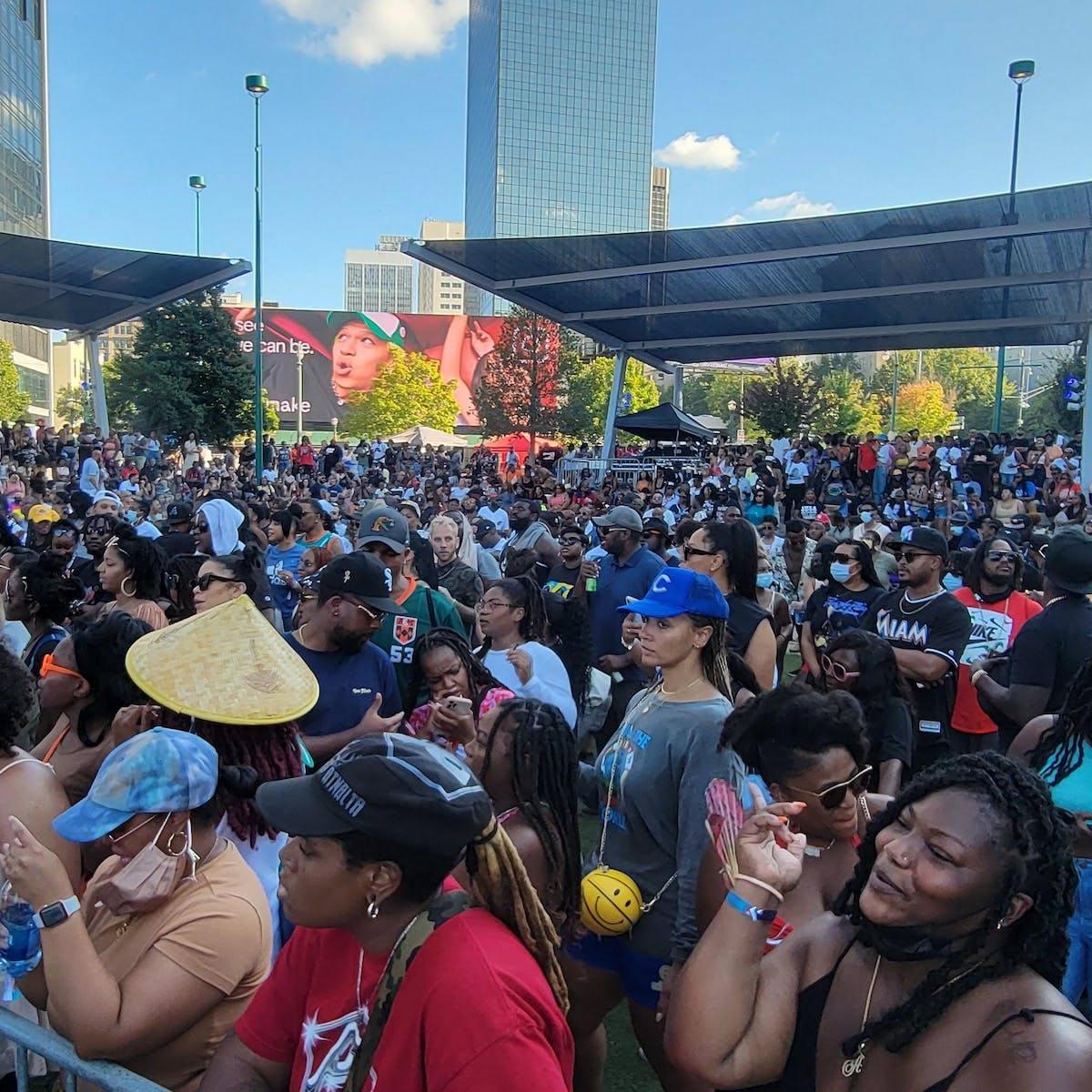 Attendees at ONE Music Fest 2021 in Atlanta, GA