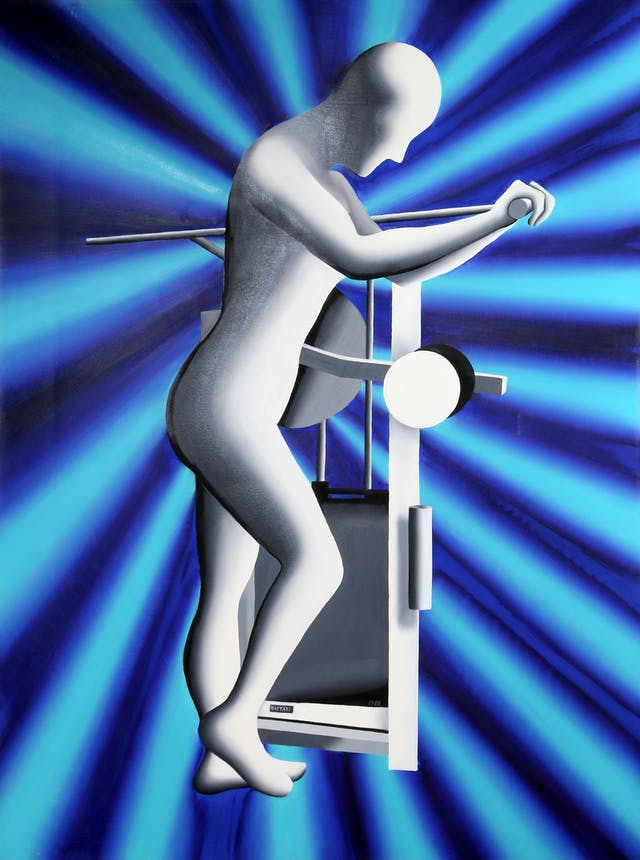 Mark Kostabi - The Re-Articulation of the Feminine Form Painting