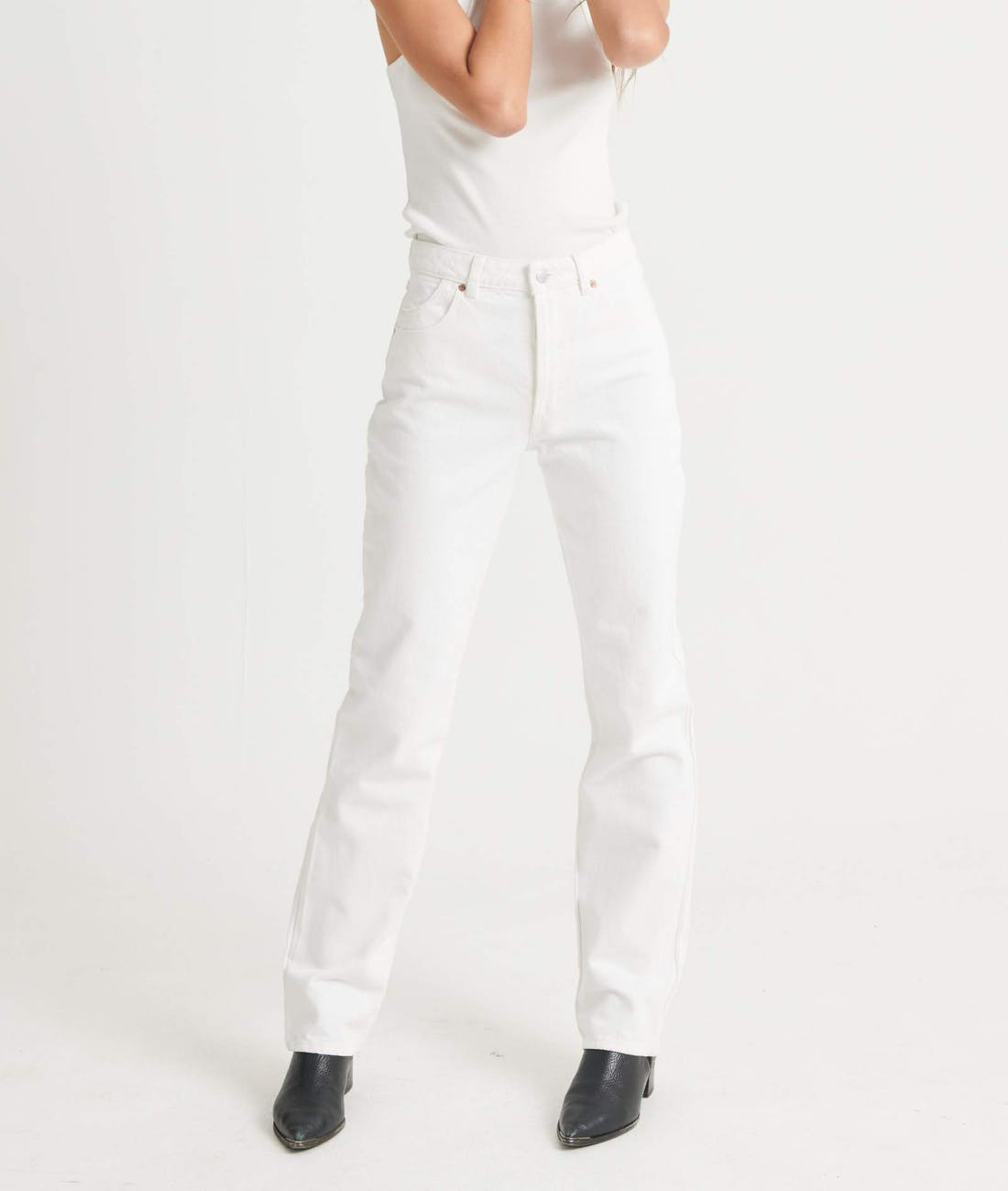 Classic Straight Jean - Vintage White