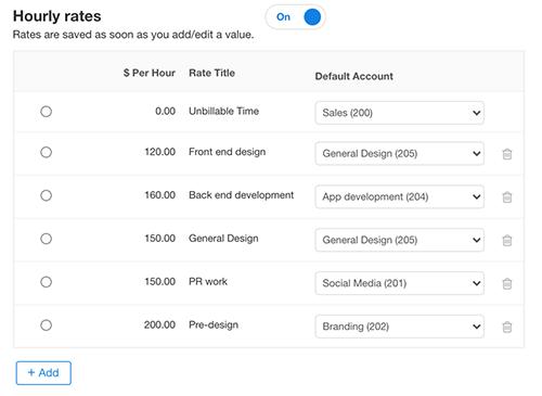 New Format Feature - Set default Xero codes
