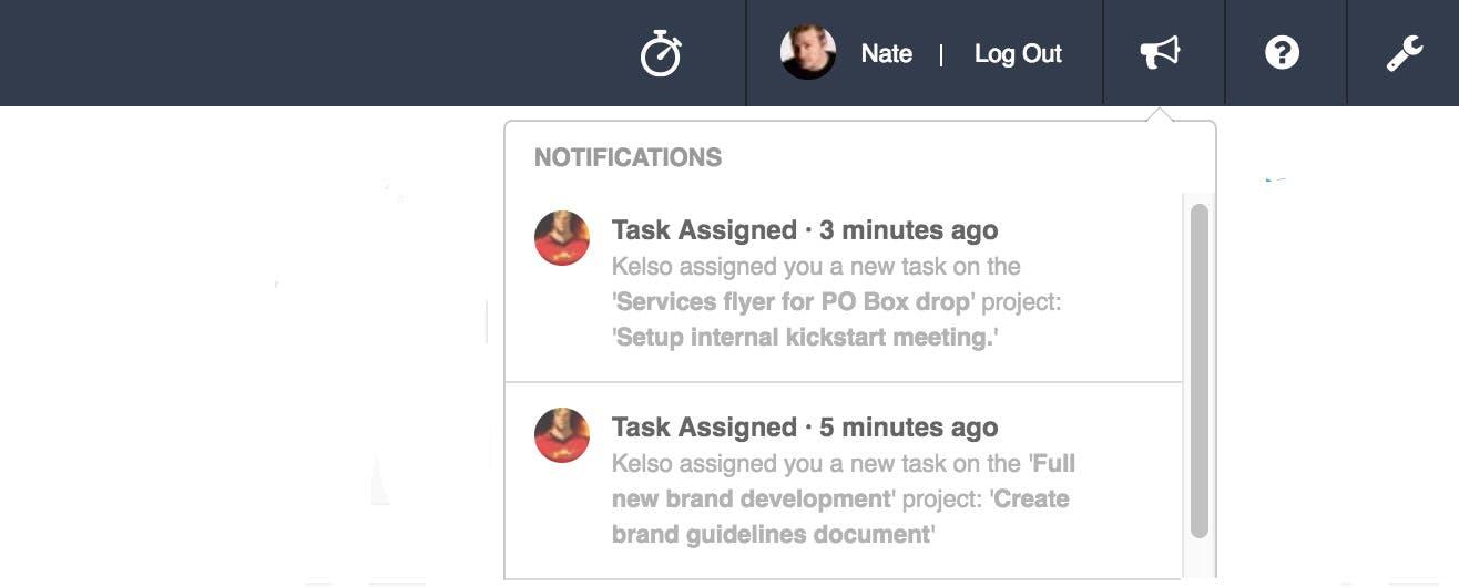 Roll notifications UI