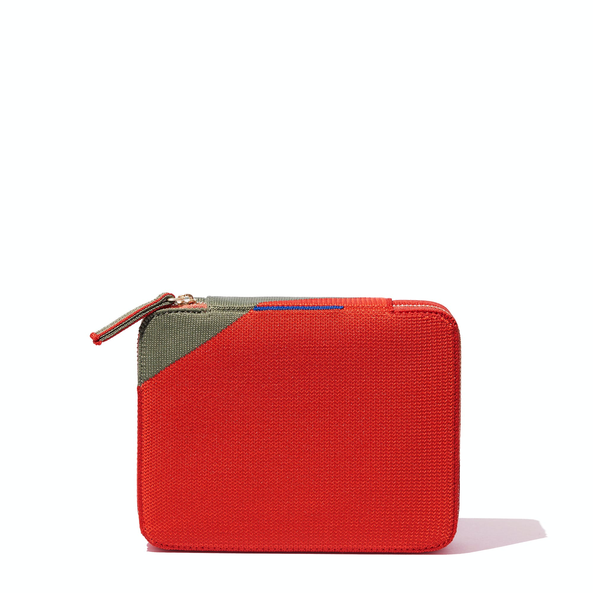 The Mid Catchall in Bright Poppy shown from the front.