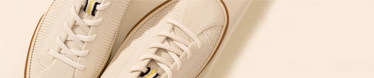 The Lace Up in Vanilla shown from the top.
