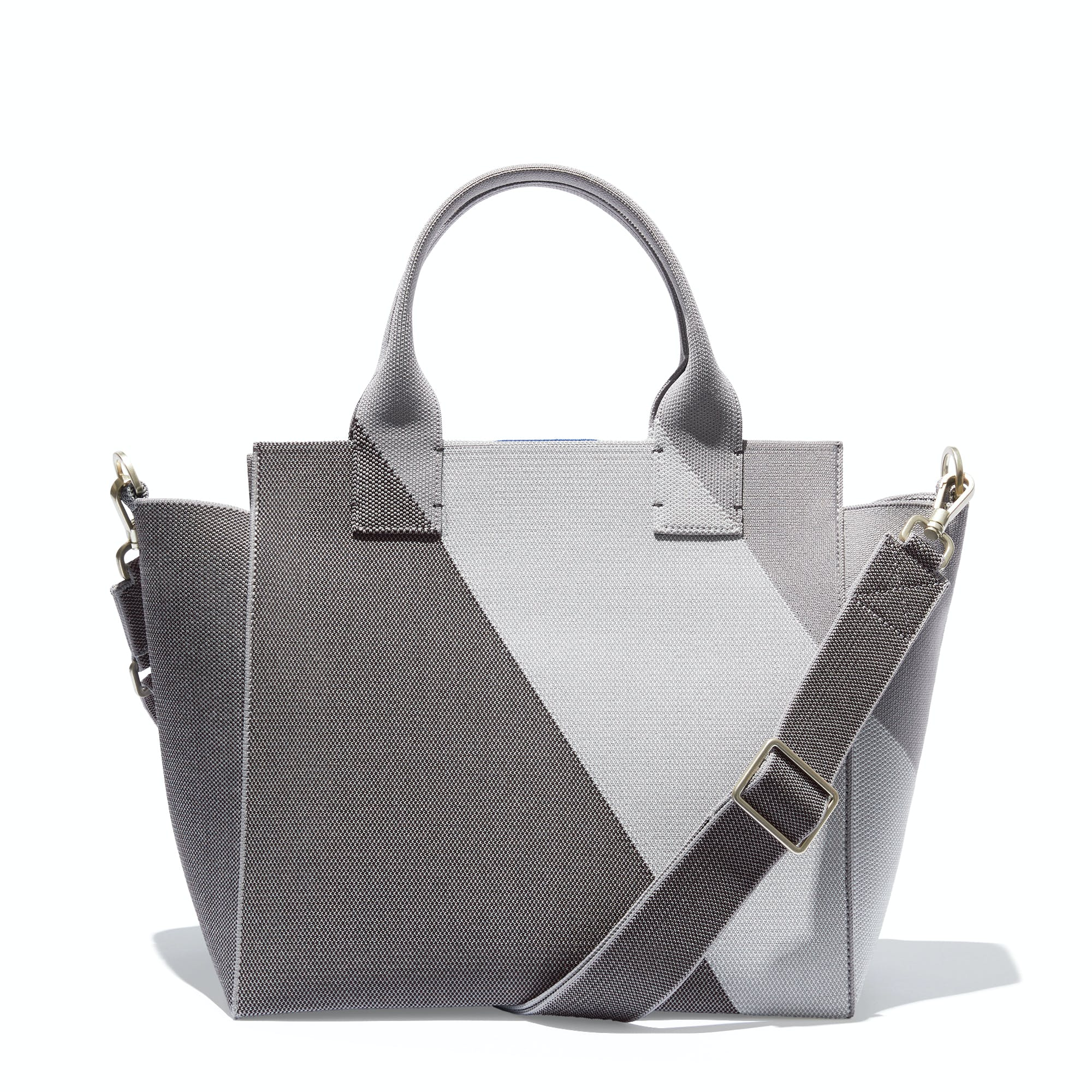 The Handbag in Charcoal Grey shown from the front.