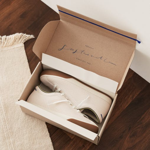 The Lace Up in Vanilla shown in the box from the top.