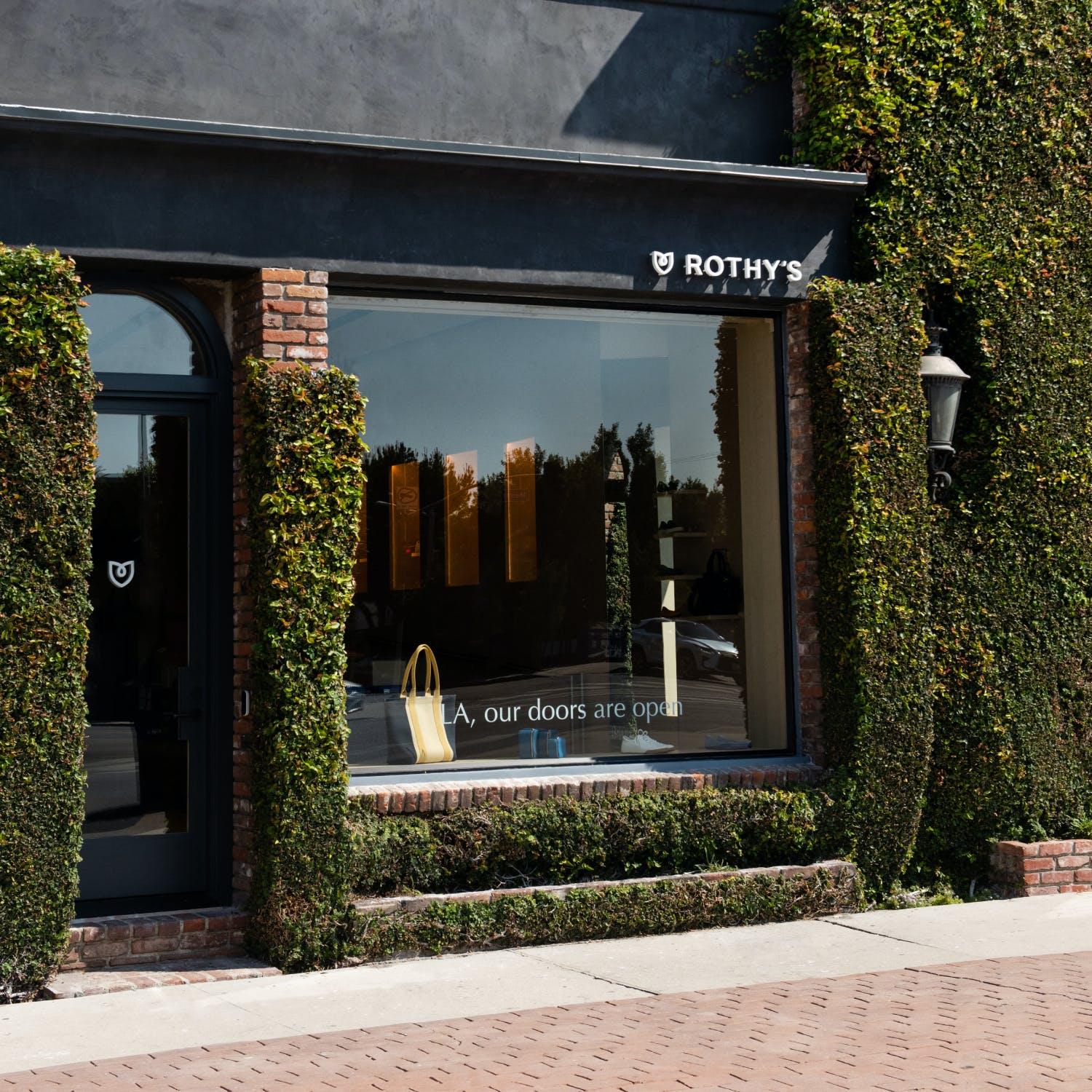 A photo of the storefront of the Melrose store in LA.