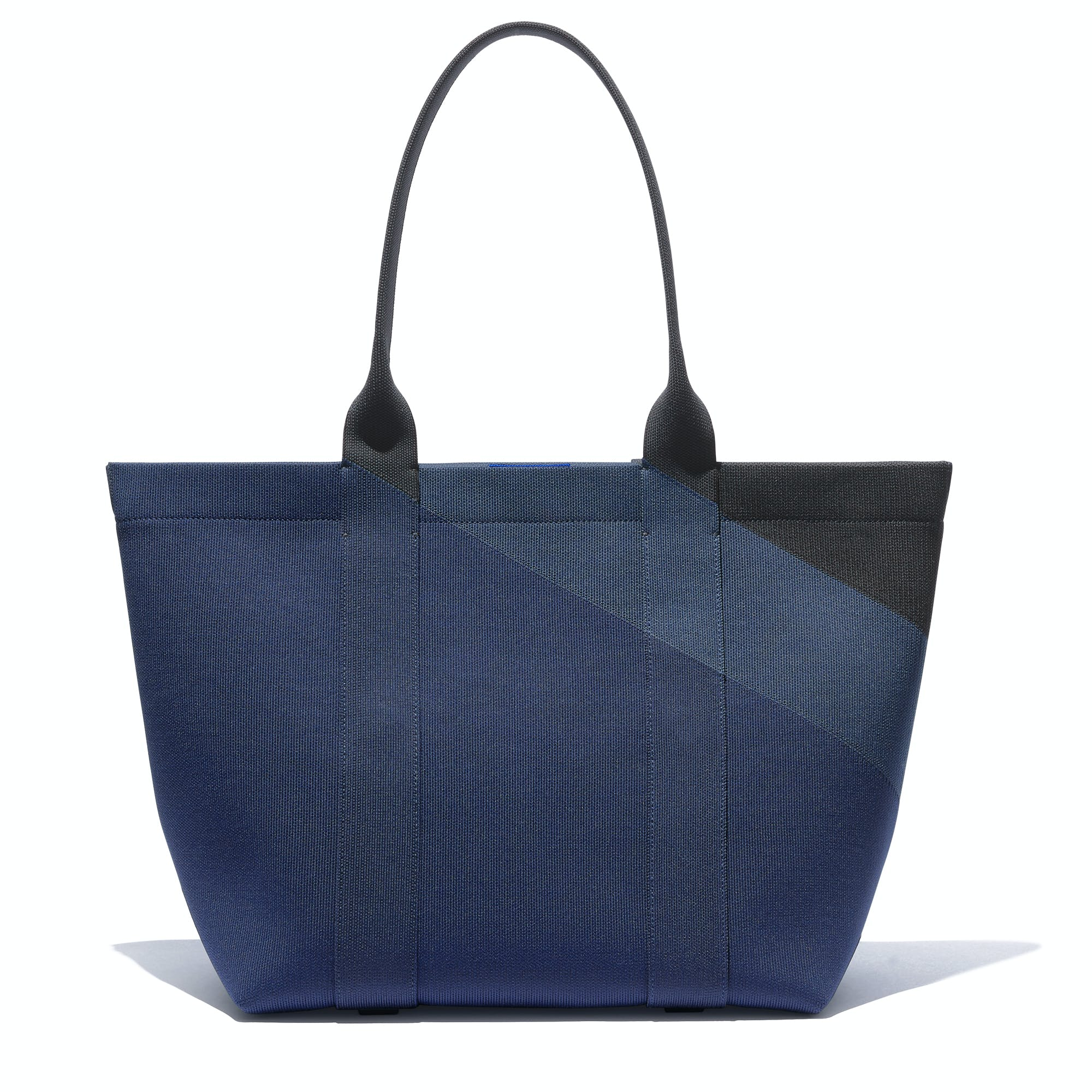The Essential Tote in Midnight Navy shown from the front.