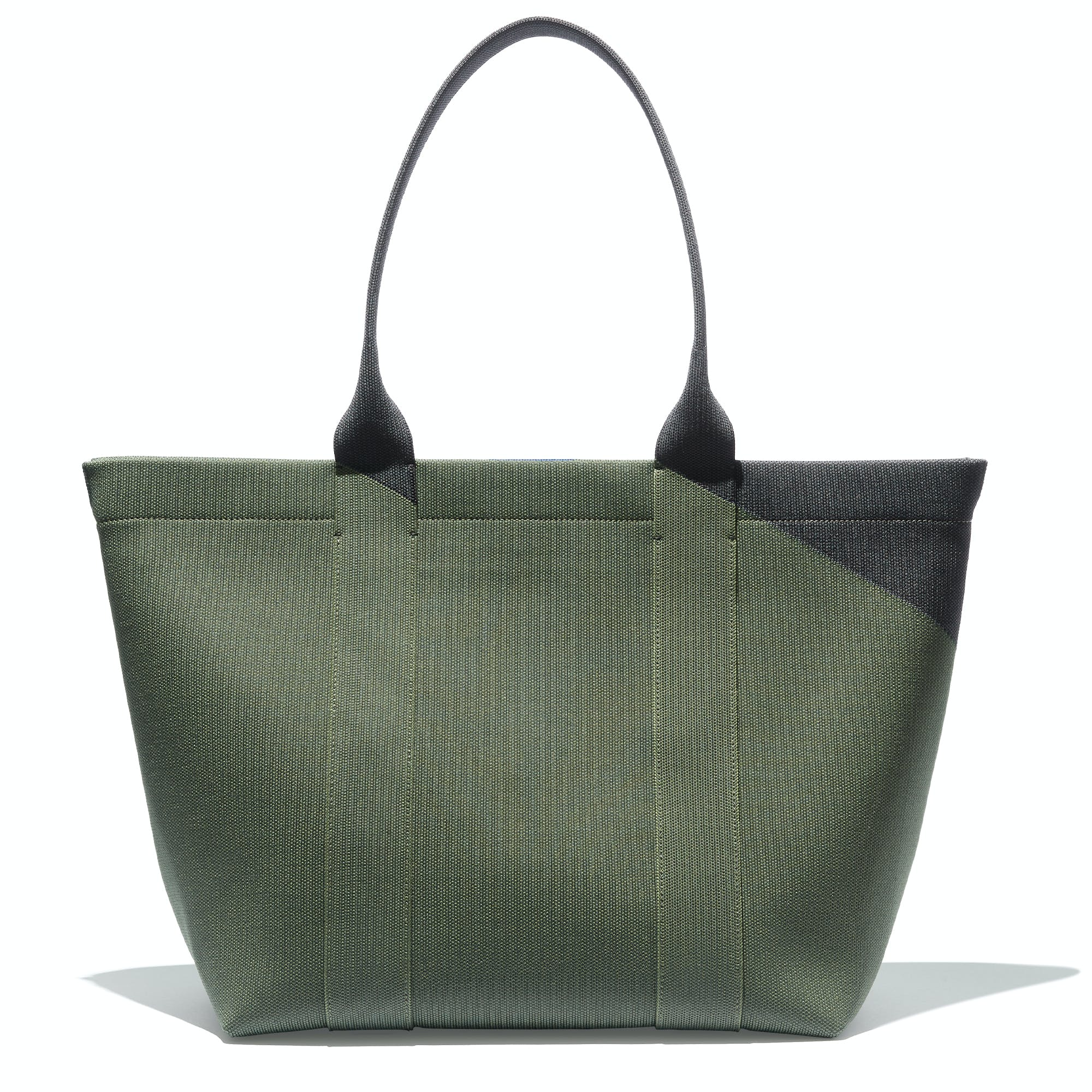The Essential Tote in Sage Green shown from the front.