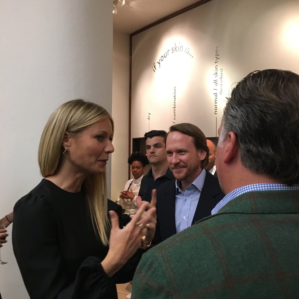 Rothy's founders Roth Martin and Stephen Hawthornthwaite in conversation with Gwyneth Paltrow.