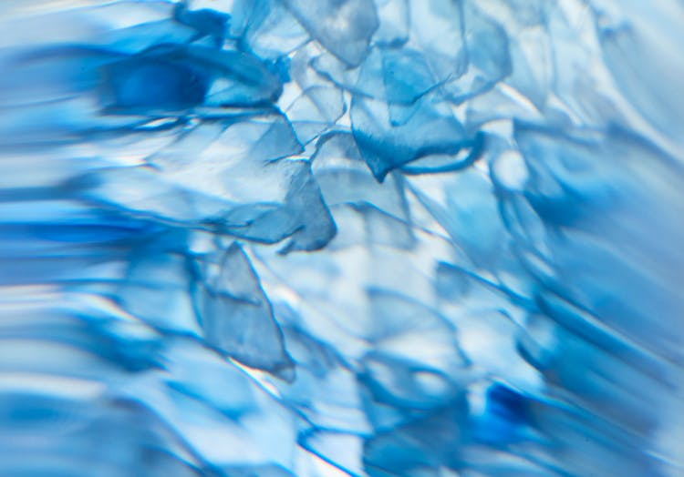 Close up image of plastic flakes.