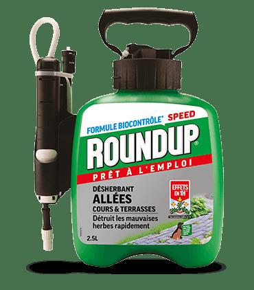 Pulverisateur a Pression Prealable Roundup Desherbant Allees, Cours Et Terrasses 2,5l