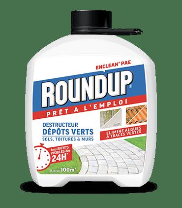 Roundup Destructeur d'Algues (dépôts verts) Prêt à l'Emploi 5L