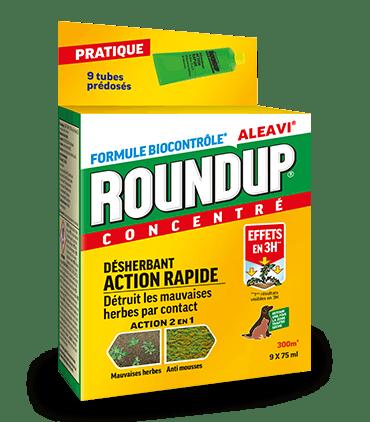 Roundup Desherbant Action Rapide - Tubes Pre-doses 675ml