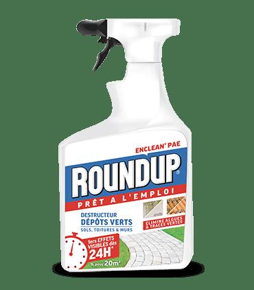 Roundup Destructeur d'Algues (dépôts verts) Prêt à l'Emploi 1L