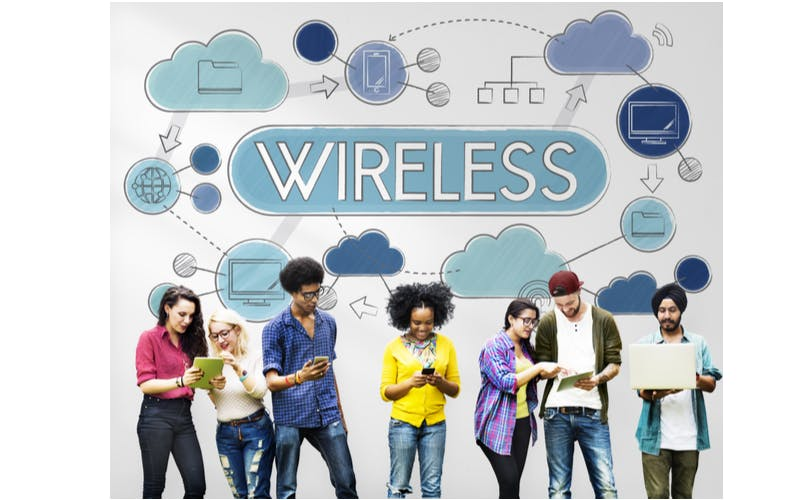 people with wireless devices