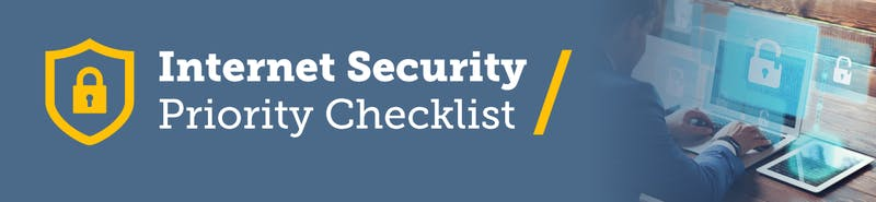 Internet Security Priority Checklist