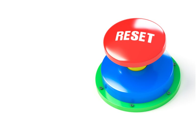 reset colored button