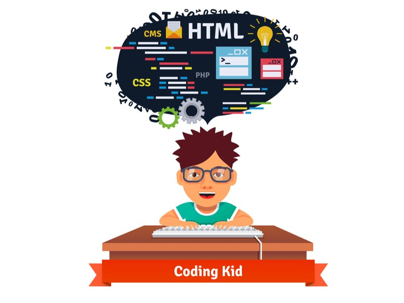 kid learningn to code