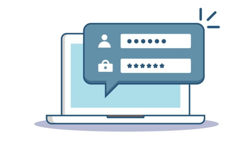 user/password login screen