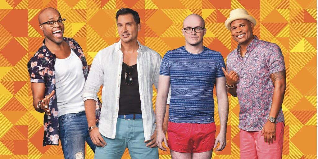 Guido, Jandino, Philippe en Roué met compleet nieuwe show in tropische sferen