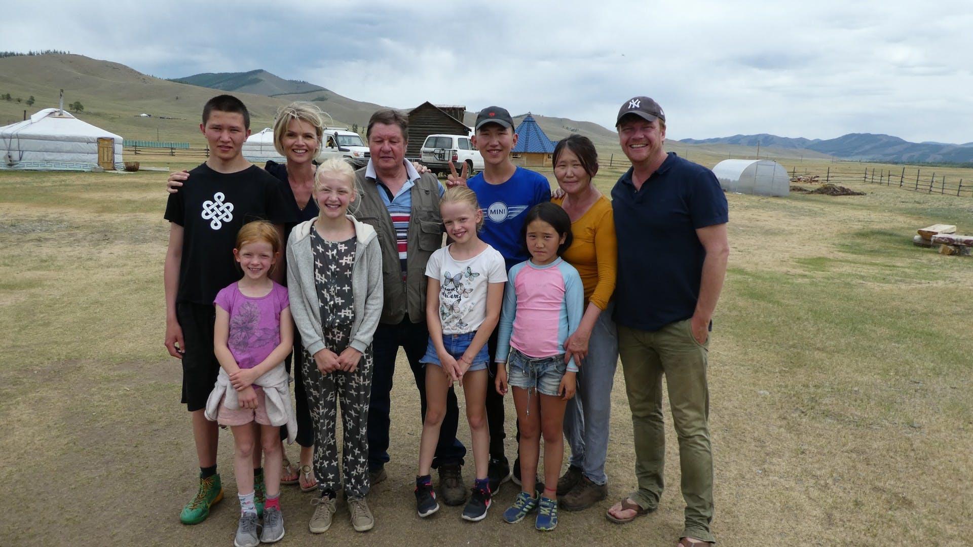 De familie Ragas in Mongolië