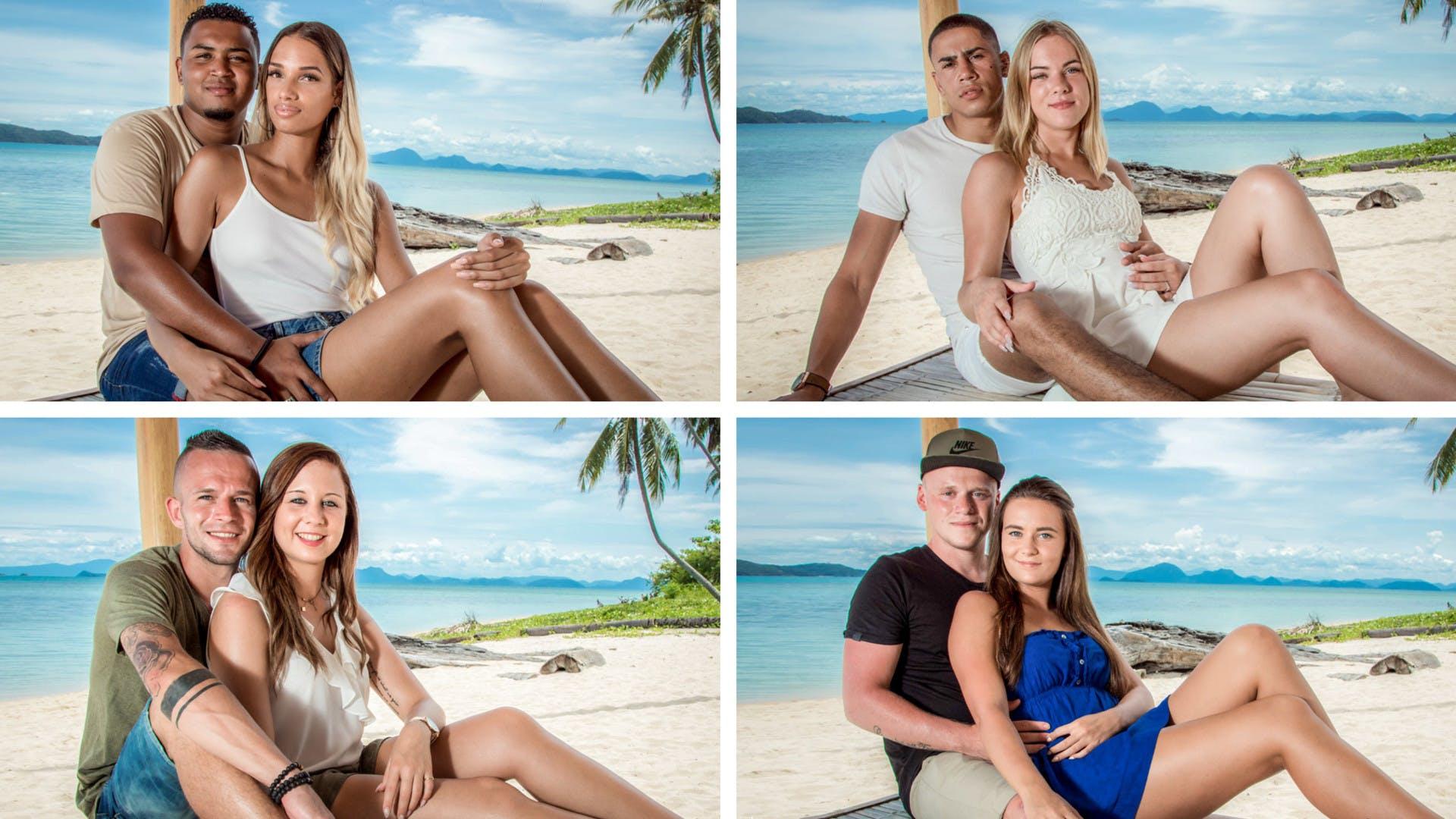 Boven v.l.n.r: Jeremy & Vanessa en Mezdi & Daniëlle Onder v.l.n.r.: Tim & Deborah en Kevin & Megan