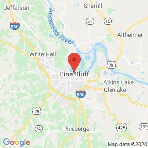 Pine Bluff map