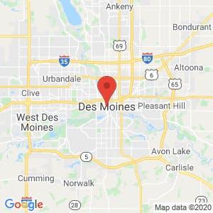 Des Moines map