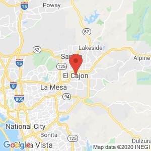 El Cajon map