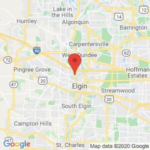Elgin Public Storage map