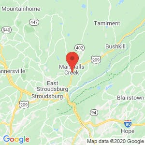 Extra Space Storage East Stroudsburg map