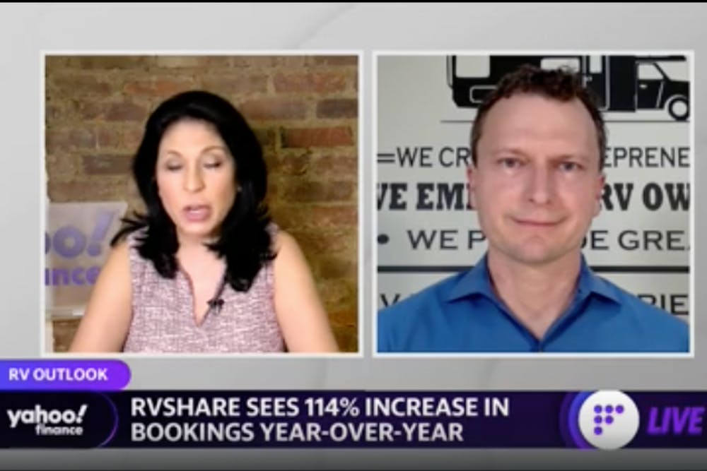 Yahoo! Finance: RVshare sees 114% increase in bookings year-over-year