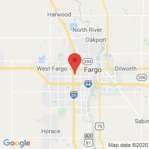 Fargo Space Center map