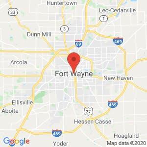 Fort Wayne map