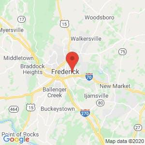 Frederick Self Storage map