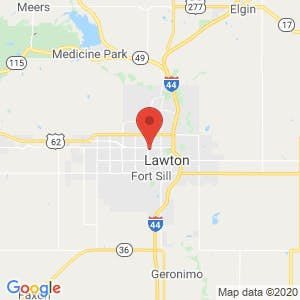 Lawton Ft. Sill Storage map