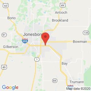 Mini Storage of Jonesboro map