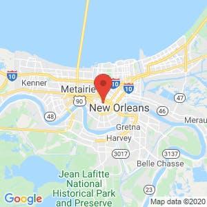 New Orleans Self Storage map