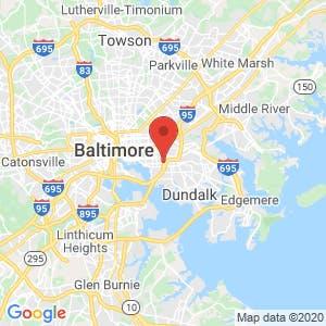 RightAway Storage of Baltimore map