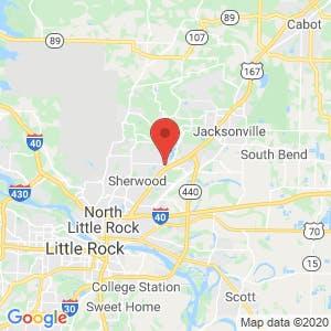 Sherwood Self Storage map