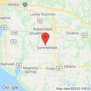 Summerdale Self Storage map