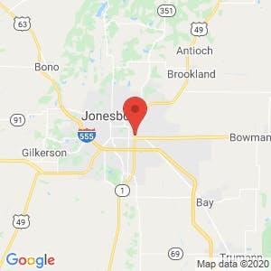 U-Haul Moving & Storage of Jonesboro map
