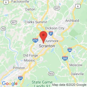 U-Haul Moving & Storage of Scranton map
