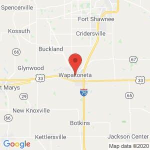 Wapakoneta map
