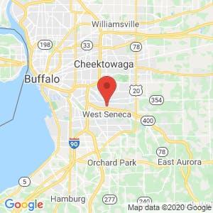 West Seneca Self Storage map