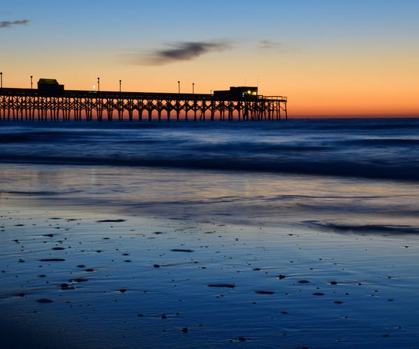 Myrtle Beach at Sunset - South Carolina